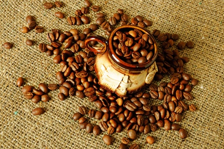 Clay coffee cup Stock Photo - 9884088