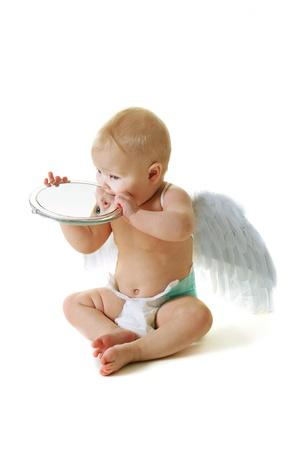 bebe angel: �ngel beb� Foto de archivo