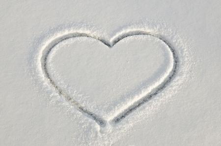 drawing heart: Coeur d'hiver Banque d'images