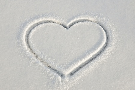 Winter heart photo