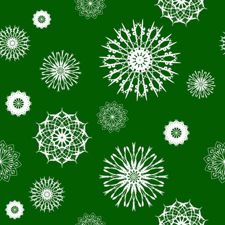 Snowflake seamless Vector