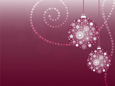 Christmas card with snowflake balls Vector