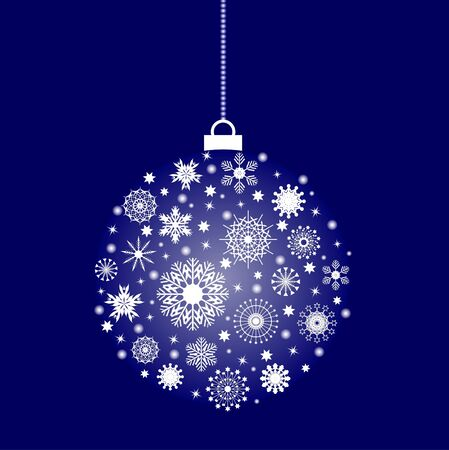 Christmas ball from flakes Vector