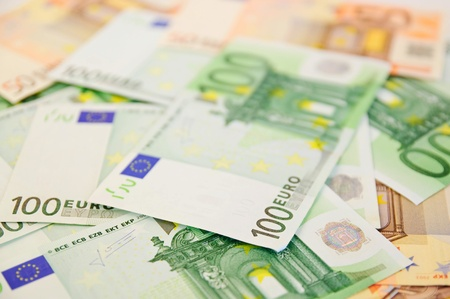 Background from  euro banknotes photo