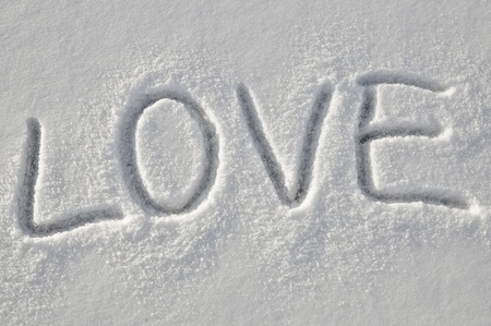 Love on the snow photo