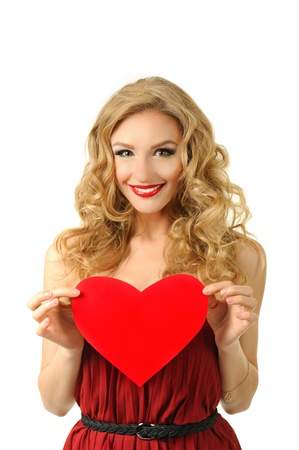 Girl with heart photo