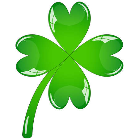 four objects: Single clover leaf