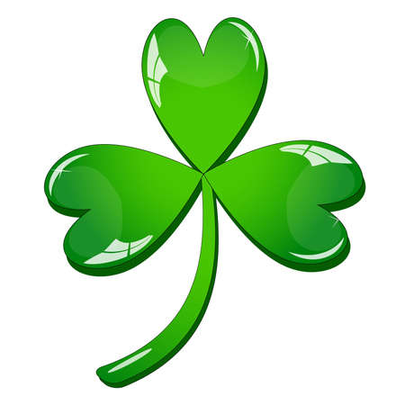 Single clover leaf Stock Vector - 12485909