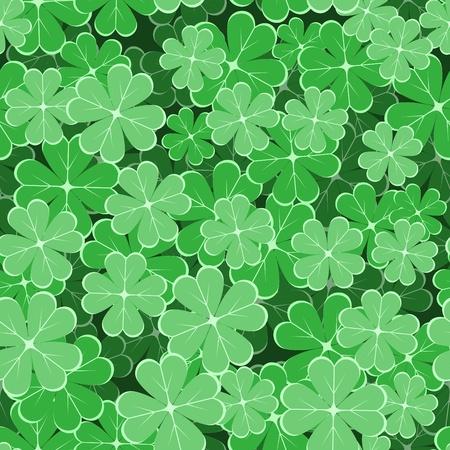festal: seamless con foglie di trifoglio Vettoriali