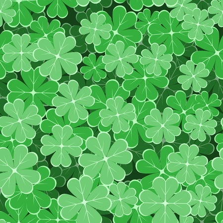 patric: seamless pattern with clover leaves