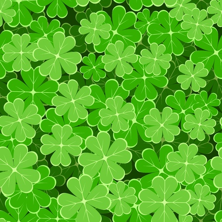 seamless pattern with clover leaves Stock Vector - 12485915