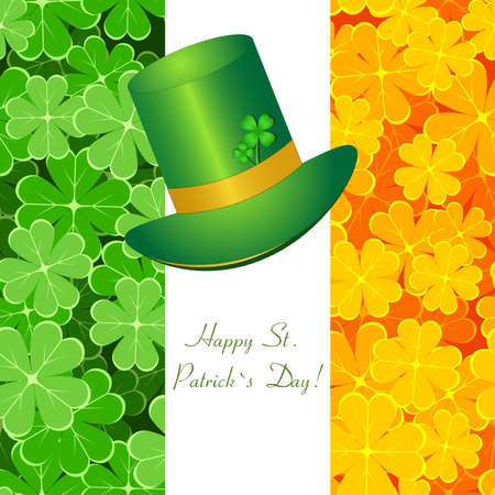 Greeting St  Patrick card Stock Vector - 12485914