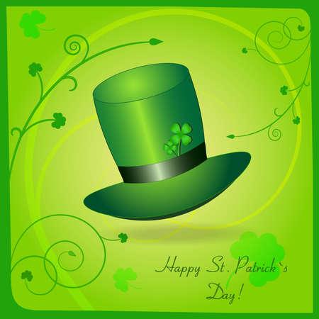 Greeting St  Patrick card Vector