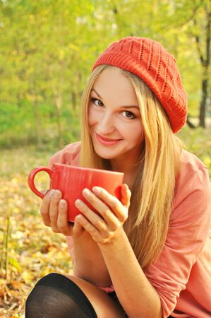 Autumn girl portrait photo