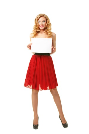 Girl with sheet of paper Stock Photo - 14446153