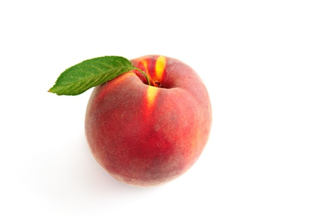 the peach: Single fresh ripe peach