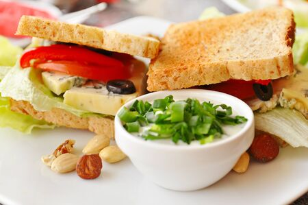 Sandwich in a cafe photo