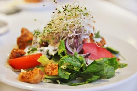Salade met chiken en groenten Stockfoto