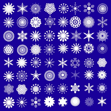 Snowflake set Stock Vector - 15282863