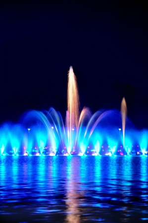 wroclaw: Multimedia laser colorful musical show in Wroclaw fountain