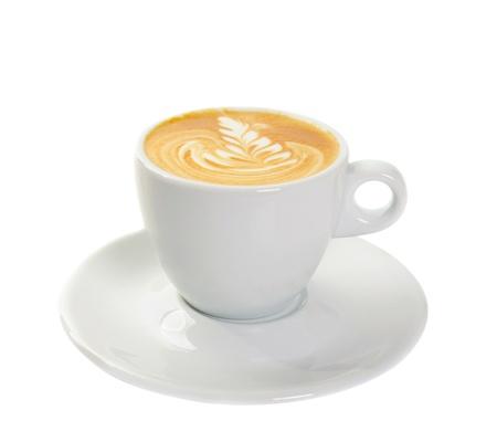 Beker met cappuccino