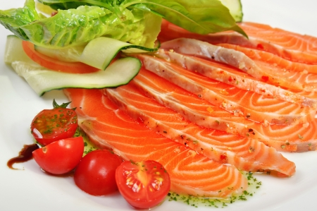 Carpaccio of salmon photo