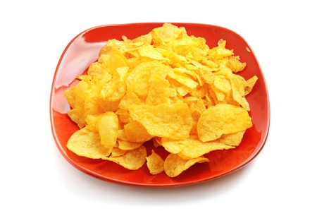 Golden fresh chips photo