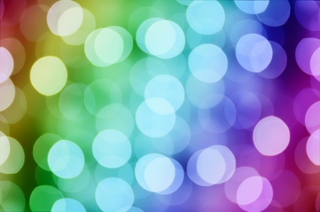 Christmas rainbow bokeh photo