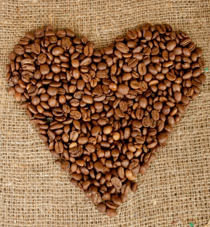 Coffee heart photo