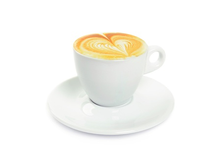 Cup with cappuccino photo