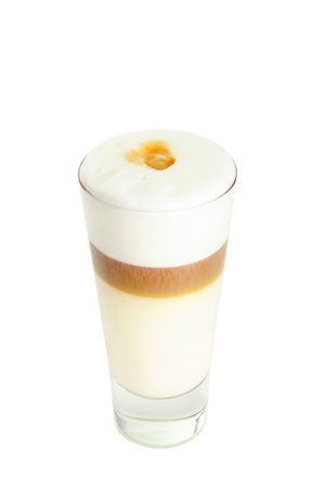 Latte isolated on white photo