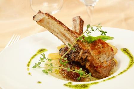 Roasted sheep meat photo