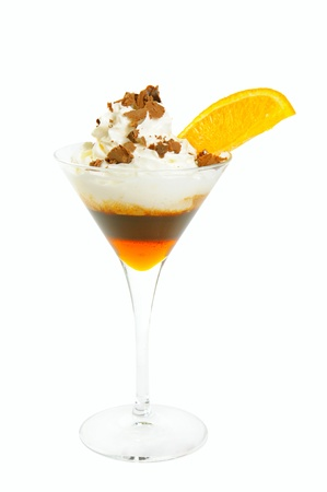 Coffee cocktail isolated Stock Photo - 16550437