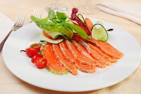 marinated: Carpaccio of salmon