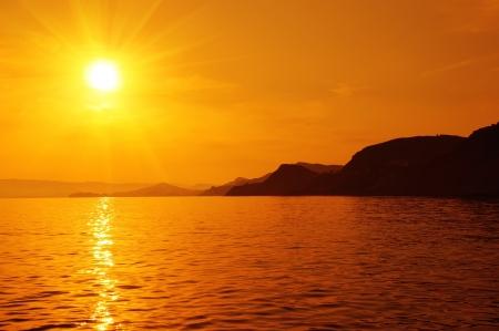 Sunset on the sea Stock Photo - 16846973