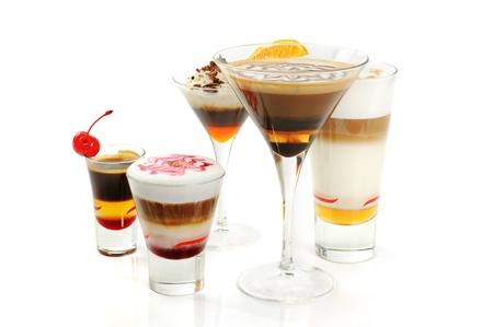 Groep van koffie cocktails