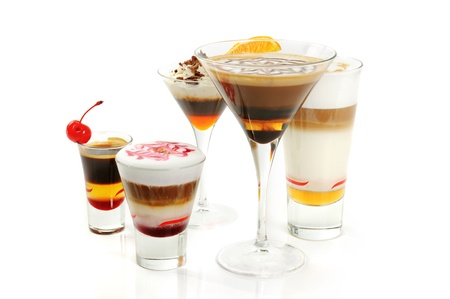 Group of coffee cocktails