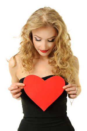 Girl with heart Stock Photo - 16826190