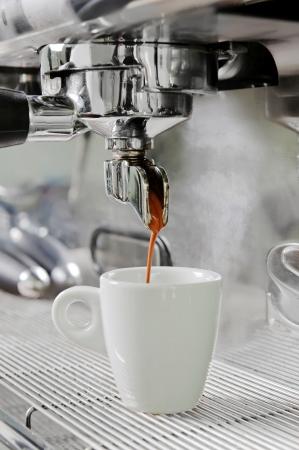 Proffesional koffiezetapparaat Stockfoto