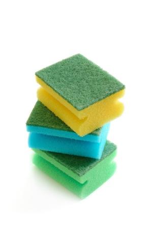 Group of kitchen sponges 写真素材