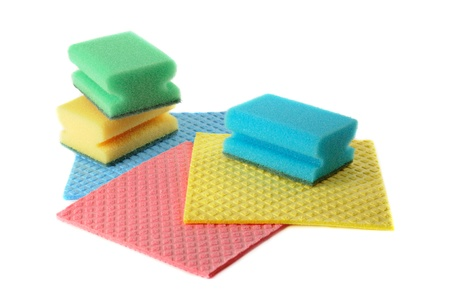 Group of kitchen sponges photo