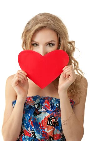 Girl with heart Stock Photo - 16985937