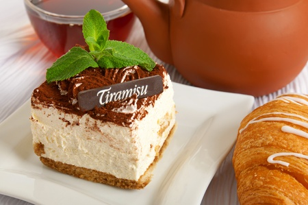 Chocolate tiramisu cake photo