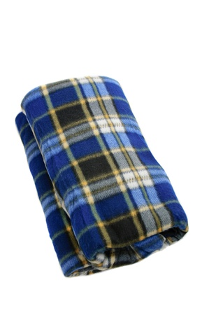 Folded plaid photo