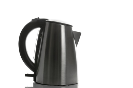 Silver grey kettle photo