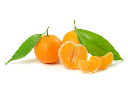 Tangerine isolated photo