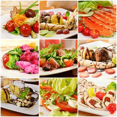 Collage with meals Zdjęcie Seryjne