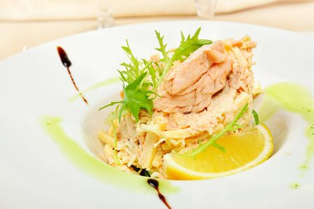second meal: Tuna salad Stock Photo