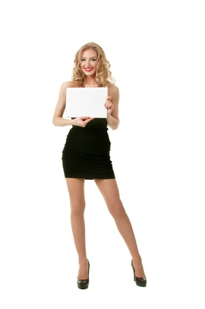 Girl with sheet of paper Stock Photo - 18137413