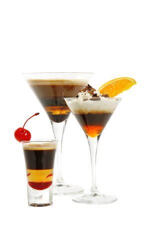 Group of coffee cocktails Stock Photo - 18148005